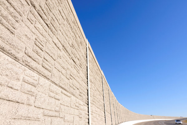 Large retaining wall designed by engineers in Ontario